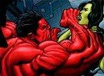 Пазл: Красный Халк против Женщины-Халк