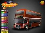 Раскрась лондонский автобус
