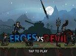 Герои сражаются против дьявола