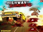 Давить зомби на безлюдной дороге