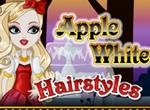Эппл Вайт в парикмахерской