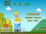 Гомер и Барт Симпсоны в мире Марио