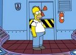 Гомер Симпсон бездельничает на работе