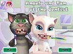 Кот Том и кошечка Анжела у дантиста