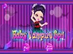 Малышка вампир принимает ванну