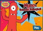 Муно играет в волейбол на вулкане