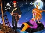 Одевалка пирата и русалочки