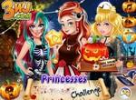 Одевалка принцесс Диснея на Хэллоуин