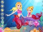 Одевалка русалки и ее дочки