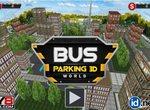 Парковка для автобусов 3Д