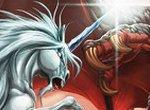 Пазл: Битва единорога с драконом