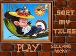 Пазл со спящим Микки Маусом