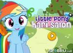 Пони Радуга Дэш в салоне причесок