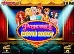 Принцессы Диснея на ночном киносеансе