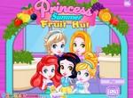 Принцессы в летнем фруктовом кафе