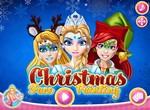 Рождественский фейс-арт для принцесс Диснея