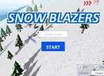 Спуск на горных лыжах 3D