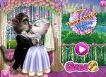 Свадебный поцелуй кота Тома и Анжелы