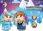 Холодные принцессы на стиле Майнкрафт